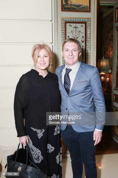 Deborralee Furness and Nicholas Evans during the Susan Gutfreund Hosts UN Women For Peace Association Reception on February 12 2018 in New York City