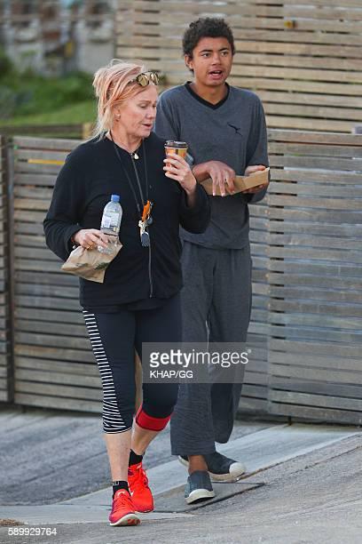 DeborraLee Furness and son Oscar Jackman on August 16 2016 in Sydney Australia