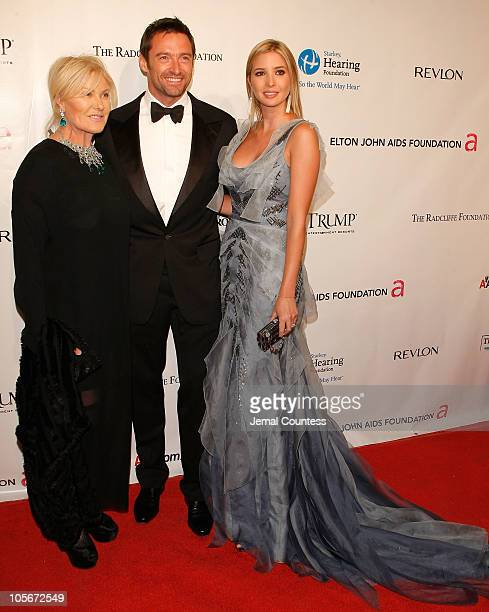 DeborraLee Furness Hugh Jackman and Ivanka Trump attend the 9th Annual Elton John AIDS Foundation's An Enduring Vision benefit at Cipriani Wall...