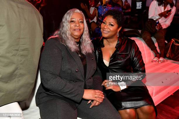 "Debra Antney and Trina Braxton attend the premiere of ""Waka & Tammy: What The Flocka"" at Republic on March 10, 2020 in Atlanta, Georgia."