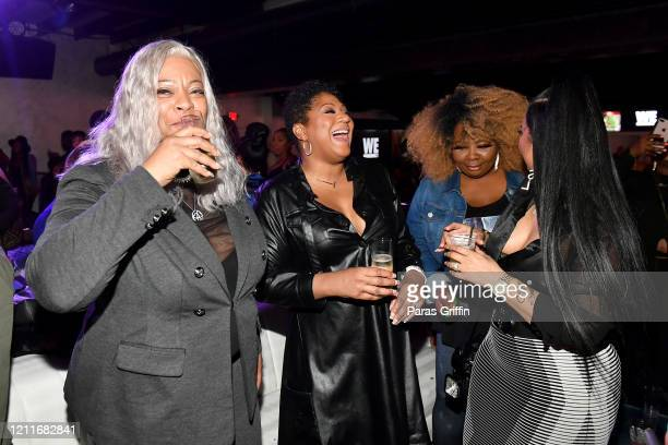 "Debra Antney, Trina Braxton, Mona Smith, and Tammy Rivera attend the premiere of ""Waka & Tammy: What The Flocka"" at Republic on March 10, 2020 in..."