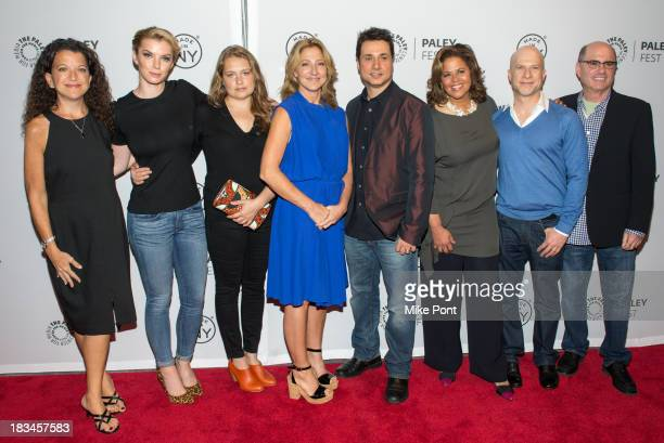 Debra Birnbaum Betty Gilpin Merritt Wever Edie Falco Adam Ferrara Anna Deavere Smith Richie Jackson and Clyde Phillips attend the 'Nurse Jackie'...