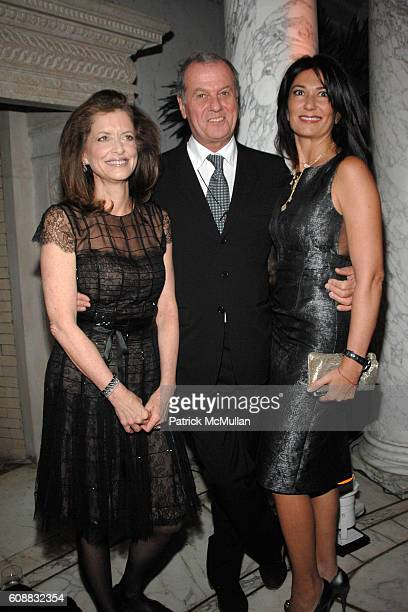 Debra Black, Jacques Grange and Nazee Moinian attend A Dinner In Honor Of Monsieur JACQUES GRANGE To Celebrate His Nomination as Chevalier de la...