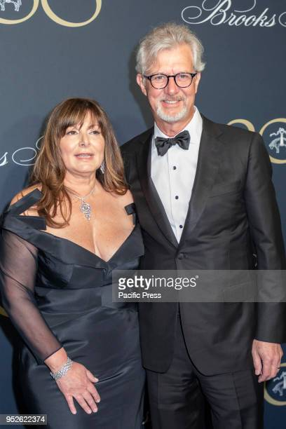 Debra Del Vecchio and Claudio Del Vecchio attend the Brooks Brothers Bicentennial Celebration at Jazz At Lincoln Center Manhattan