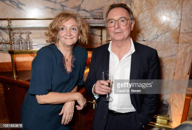 Debra Gillett and Ron Cook attend an after party for Happy Birthday Harold a charity gala celebrating the life and work of Harold Pinter and the...