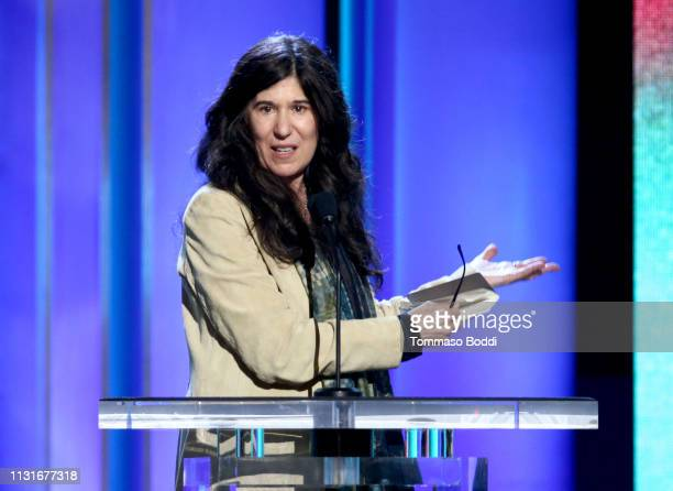 Debra Granik accepts the Bonnie Award onstage during the 2019 Film Independent Spirit Awards on February 23 2019 in Santa Monica California