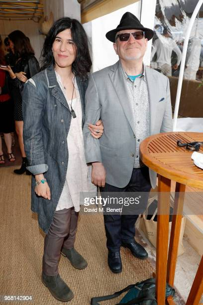 Debra Granik and Jonathan Scheuer attend the Leave No Trace party presented by Perrier-Jouet at Nikki Beach on May 13, 2018 in Cannes, France.