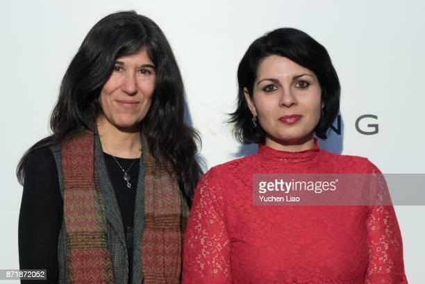 Debra Granik and Maysaloun Hamoud attend Kering Presents Women In Motion A Special Screening of 'In Between' at Crosby Street Hotel on November 8...