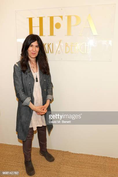 Debra Granik attends the Leave No Trace party presented by Perrier-Jouet at Nikki Beach on May 13, 2018 in Cannes, France.