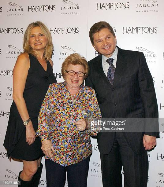 Debra Halpert Publisher of Hamptons Magazine Dr Ruth Westheimer and Gary Flom President and CEO of Manhattan Automobile Company
