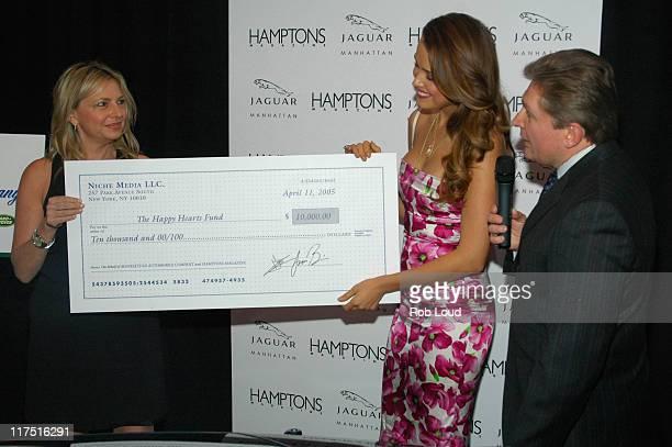 Debra Halpert Publisher of Hamptons Magazine Petra Nemcova and Gary Flom President and CEO of Manhattan Automobile Company