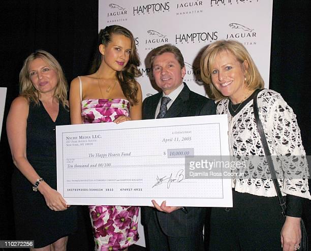 Debra Halpert Publisher of Hamptons Magazine Petra Nemcova Gary Flom President and CEO of Manhattan Automobile Company and Lori Burgess Group...
