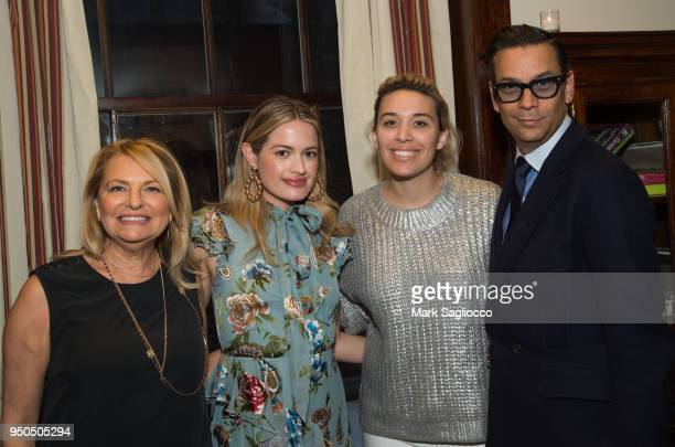 Debra Halpert Sarah Bray Jacqueline Zenere and James Aguiar attend the Gotham Magazine VIP Dinner with Cover Star Taylor Schilling at The Lambs Club...