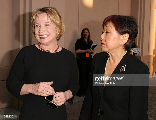 Debra Jo Rupp and Mary Rose during ATAS Hosts a StarStudded Fashion Show to Benefit Dress for Success at ATAS' Leonard H Goldenson Theatre in North...