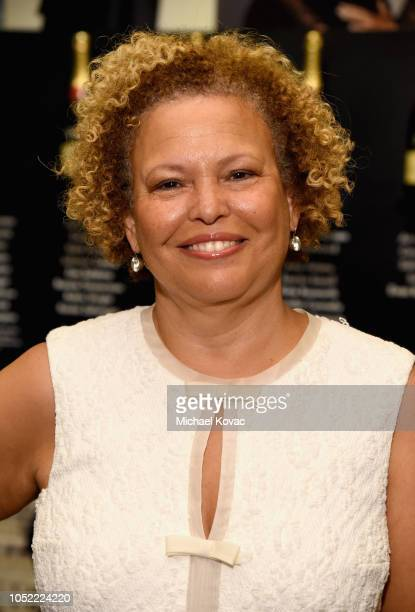 Debra L Lee attends ELLE's 25th Annual Women In Hollywood Celebration presented by L'Oreal Paris Hearts On Fire and CALVIN KLEIN at Four Seasons...