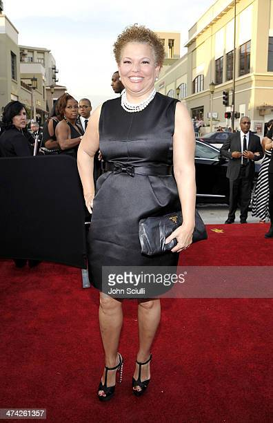 Debra L Lee attends the 45th NAACP Image Awards presented by TV One at Pasadena Civic Auditorium on February 22 2014 in Pasadena California