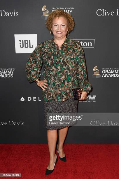 Debra L Lee attends the PreGRAMMY Gala and GRAMMY Salute to Industry Icons Honoring Clarence Avant at The Beverly Hilton Hotel on February 9 2019 in...