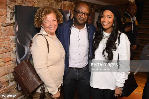 Debra L Lee Kay Madati and Ava Coleman attend Twitter and ARRAYs #HereWeAre brunch at the #TwitterLodge during the 2018 Sundance Film Festival on...