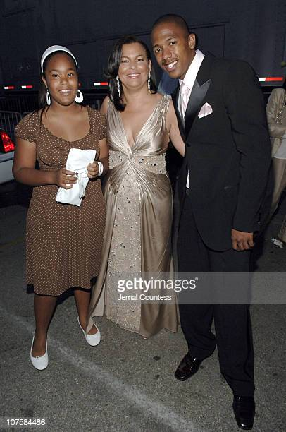 Debra L Lee President of BET with Nick Cannon and Ava Lee