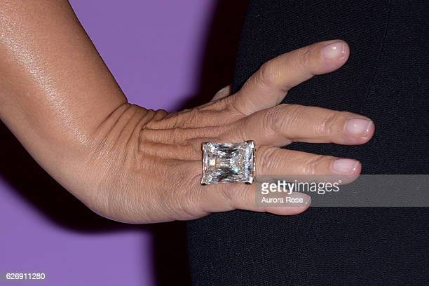 Debra L Lee ring detail at Alvin Ailey American Dance Theater Opening Night Gala Benefit 'An Evening of Ailey and Jazz' at New York City Center on...