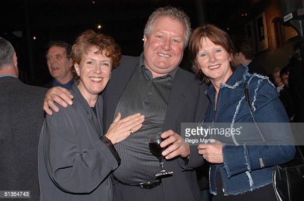 Debra Lawrance John Wood and Leslie Wood at the after party for the opening night of the play The Elocution Of Benjamin Franklin at the Merlyn...