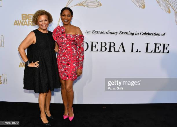 Debra Lee and Garcelle Beauvais attend the Debra Lee PreBET Awards Dinner at Vibiana on June 20 2018 in Los Angeles California