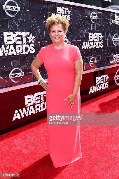 Debra Lee arrived at the BET Make A Wish Foundation Recipients BET Experience At LA Live Red Carpet arrivals Weekend Events on June 28 2015 in Los...