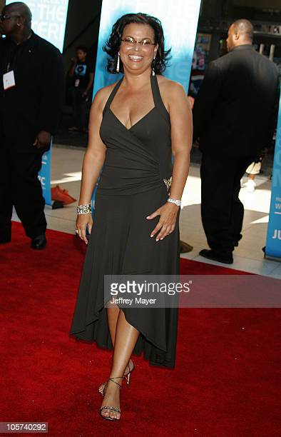 Debra Lee CEO of BET during 2005 BET Awards Arrivals at Kodak Theatre in Hollywood California United States