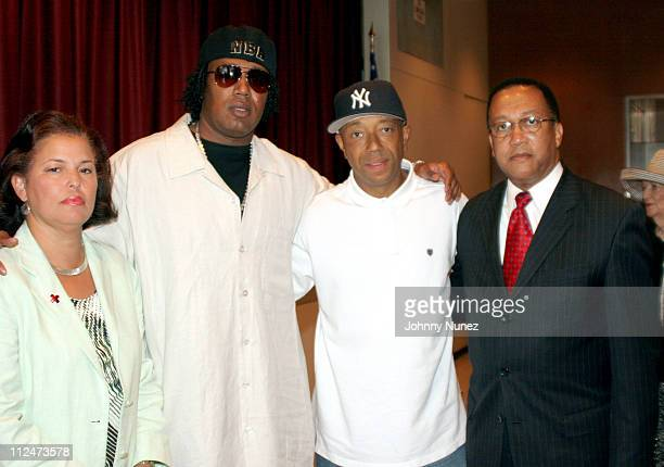 Debra Lee President and CEO of BET Master P Russell Simmons and Minister Benjamin Chavis