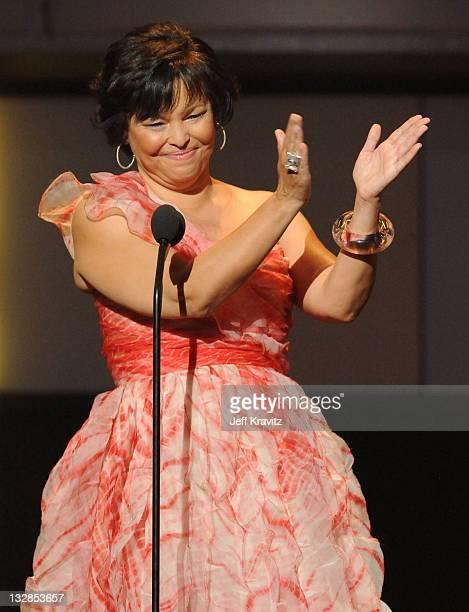 Debra Lee speaks onstage during the 2010 BET Awards held at the Shrine Auditorium on June 27, 2010 in Los Angeles, California.