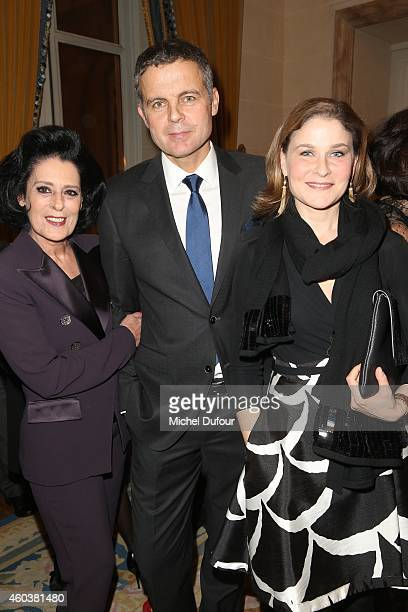 Debra Macé Christian Streib and Hala Gorani attend the Children For Peace Gala at Cercle Interallie on December 12 2014 in Paris France