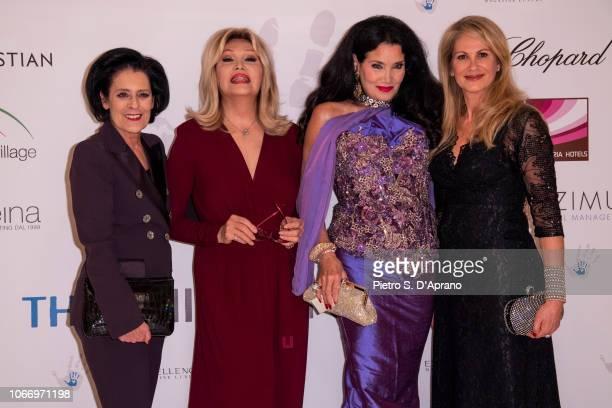 Debra Mace Amanda Lear Lamia Khashoggi and Nadia Murabet attend The Children For Peace Gala at Hotel Principe di Savoia on November 30 2018 in Milan...