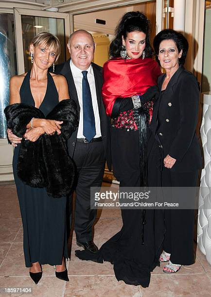 Debra Mace President of The Children for Peace ONLUS Lamia Khashoggi vice president 'Children for Peace' Alfredo Galullo and guest attend the 'Opera...