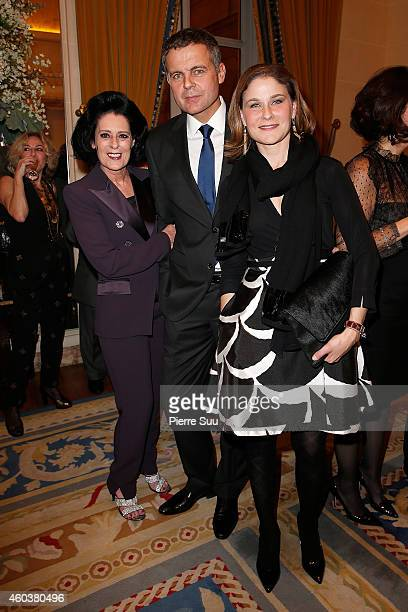 Debra MAceChristian Streib and Hala Gorani attend The Children for Peace Gala at Cercle Interallie on December 12 2014 in Paris France