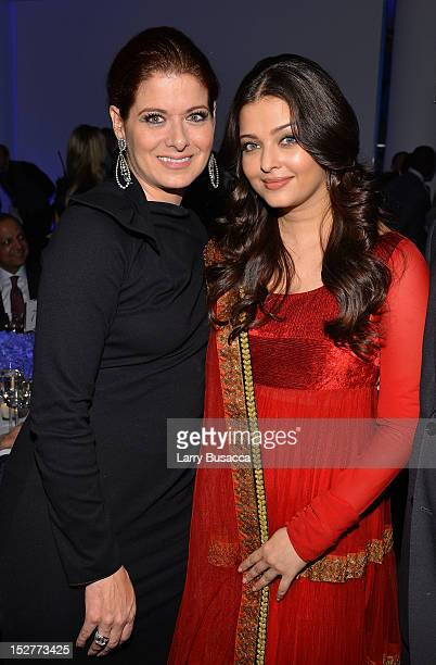 Debra Messing and Aishwarya Rai attend the United Nations Every Woman Every Child Dinner 2012 on September 25 2012 in New York United States