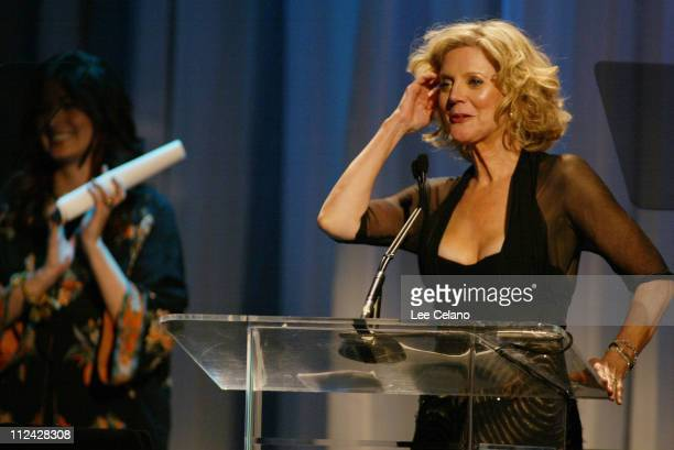 Debra Messing and Blythe Danner during 'A Family Affair Women in Film Celebrates the Paltrow Family' with 2004 Crystal Lucy Awards Show at Westin...