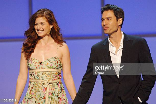 Debra Messing and Eric McCormack during 2005/2006 NBC UpFront Show at Radio City Music Hall in New York City New York United States