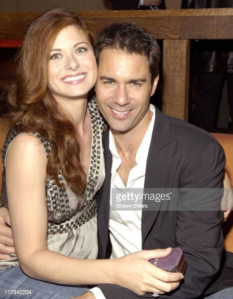 Debra Messing and Eric McCormack during David Kohan and Max Mutchnick Celebrate Their Shows 'Twins' 'Four Kings' and 'Will and Grace' at Cain Lounge...