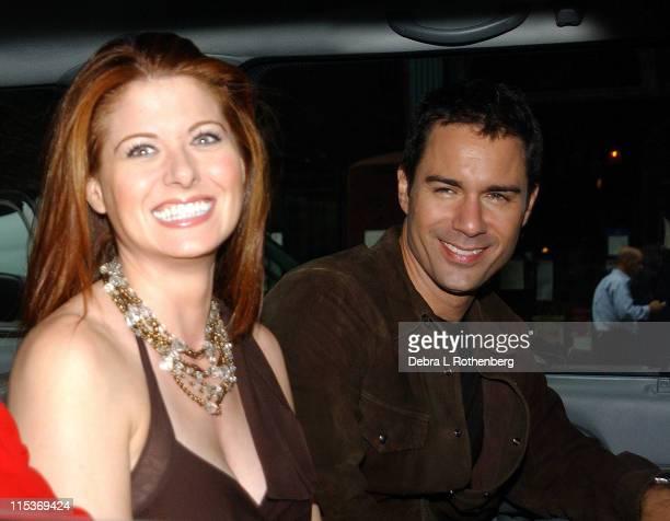Debra Messing and Eric McCormack leaving Barnes Noble