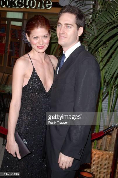 Debra Messing and husband at the Fulfillment Fund Stars 2001 Benefit Gala honoring Jeffrey Katzenberg