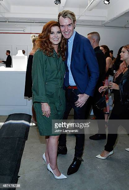 Debra Messing and Ken Downing from Neiman Marcus attends Jennifer Fisher presentation during Spring 2016 New York Fashion Week on September 9 2015 in...