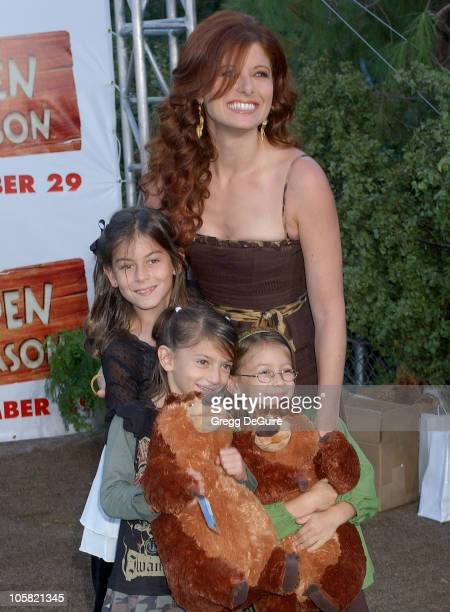 Debra Messing and niece's during 'Open Season' Los Angeles Premiere Arrivals at Greek Theatre in Los Angeles California United States