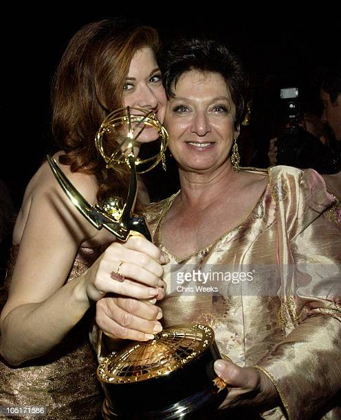 Debra Messing and Sandy Messing during 55th Annual Primetime Emmy Awards Governors Ball at The Shrine Auditorium in Los Angeles California United...