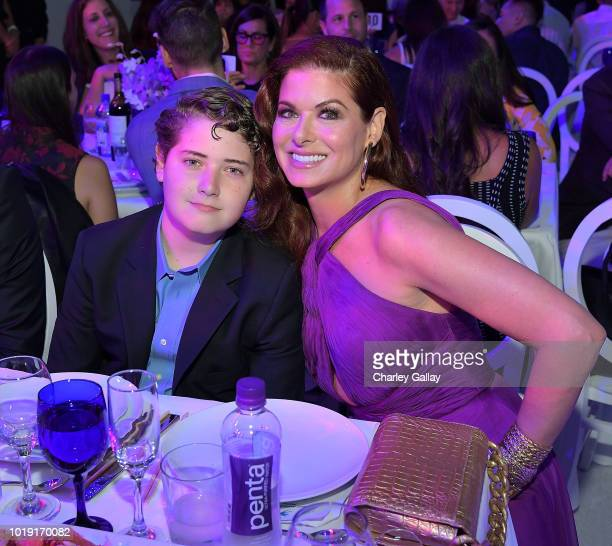 Debra Messing and son Roman Zelman attend Project Angel Food's 2018 Angel Awards on August 18 2018 in Hollywood California