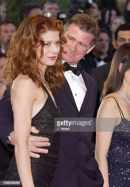 Debra Messing and Treat Williams during Cannes 2002 Opening Night Hollywood Ending Premiere at Palais des Festivals in Cannes France