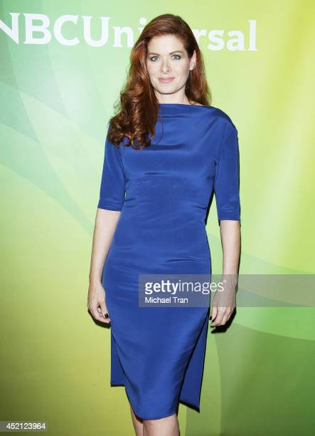 Debra Messing arrives at NBCUniversal's 2014 Summer TCA Tour Day 1 held at The Beverly Hilton Hotel on July 13 2014 in Beverly Hills California