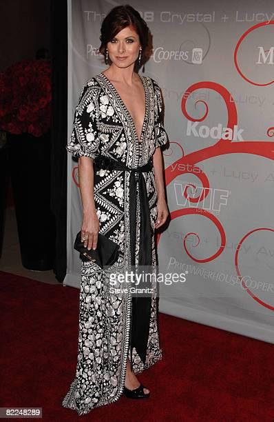 Debra Messing arrives at The 2008 Crystal Lucy Awards 'A Black And White Gala' on June 17 2008 at the Beverly Hilton Hotel in Beverly Hills California