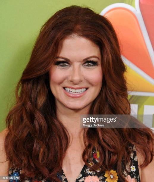 Debra Messing arrives at the 2017 Summer TCA Tour NBC Press Tour at The Beverly Hilton Hotel on August 3 2017 in Beverly Hills California