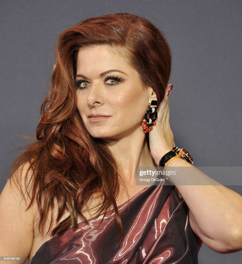 Debra Messing arrives at the 69th Annual Primetime Emmy Awards at Microsoft Theater on September 17, 2017 in Los Angeles, California.