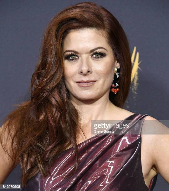Debra Messing arrives at the 69th Annual Primetime Emmy Awards at Microsoft Theater on September 17 2017 in Los Angeles California